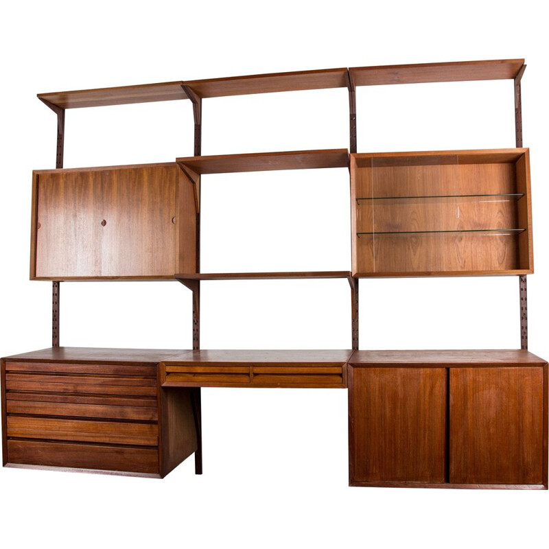 Vintage Large danish modular shelf in teak by Poul Cadovius 1960s