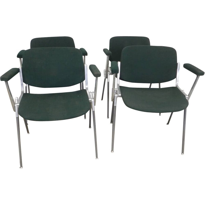 Set of 4 vintage office chairs
