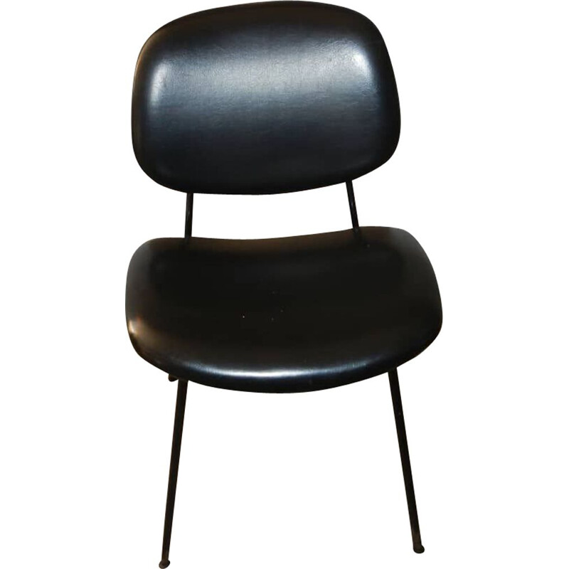 Vintage leatherette office chair by Olivetti