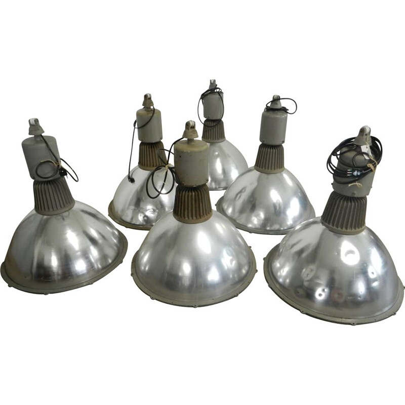 Vintage industrial lamp by ZETALUX Italy