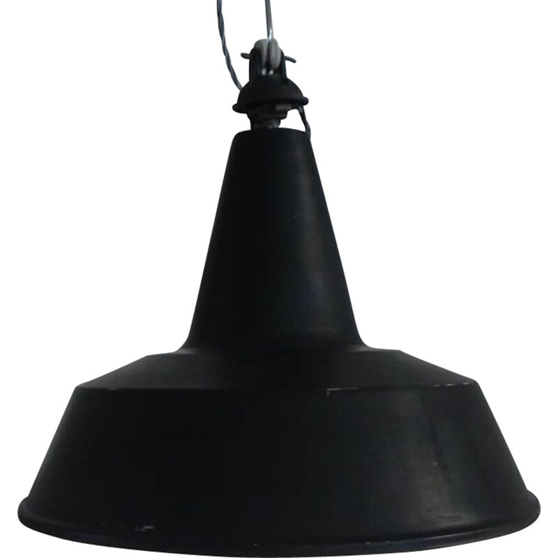 Vintage black industrial ceramic lamps