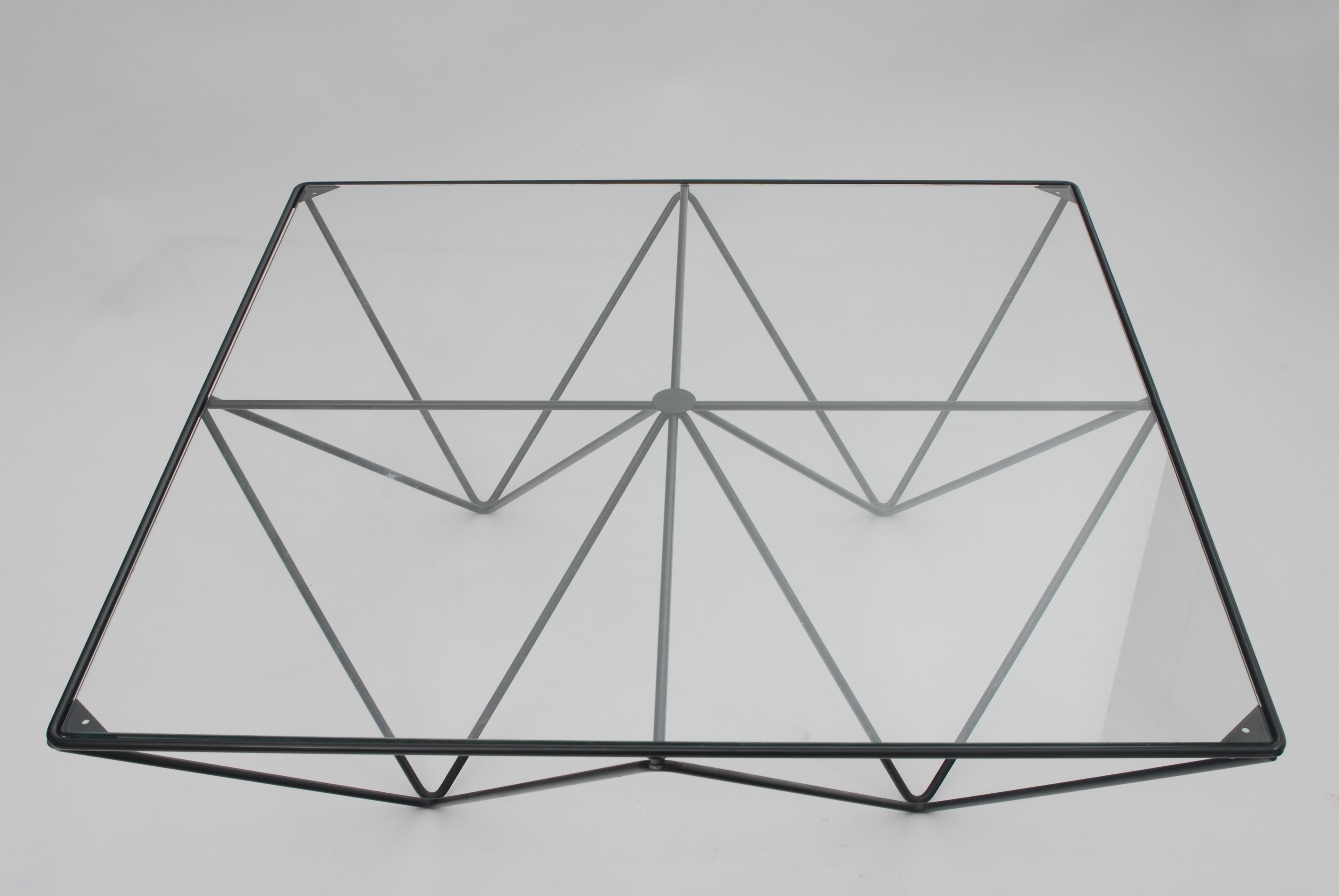 "Alanda"" Italian coffee table in metal Paolo PIVA 1980s Design"