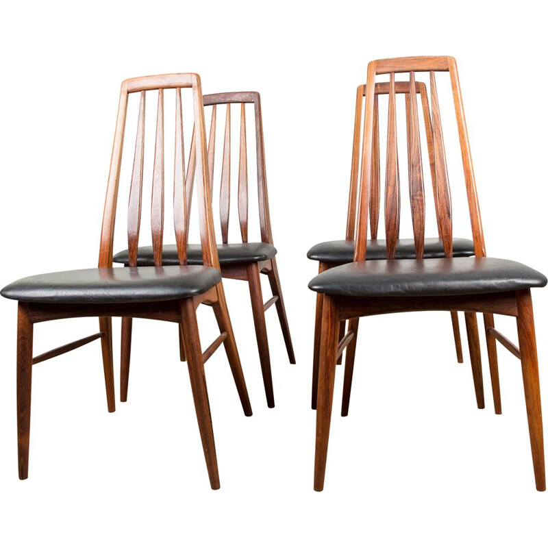 Set of 4 vintage rosewood chairs Denmark 1960s