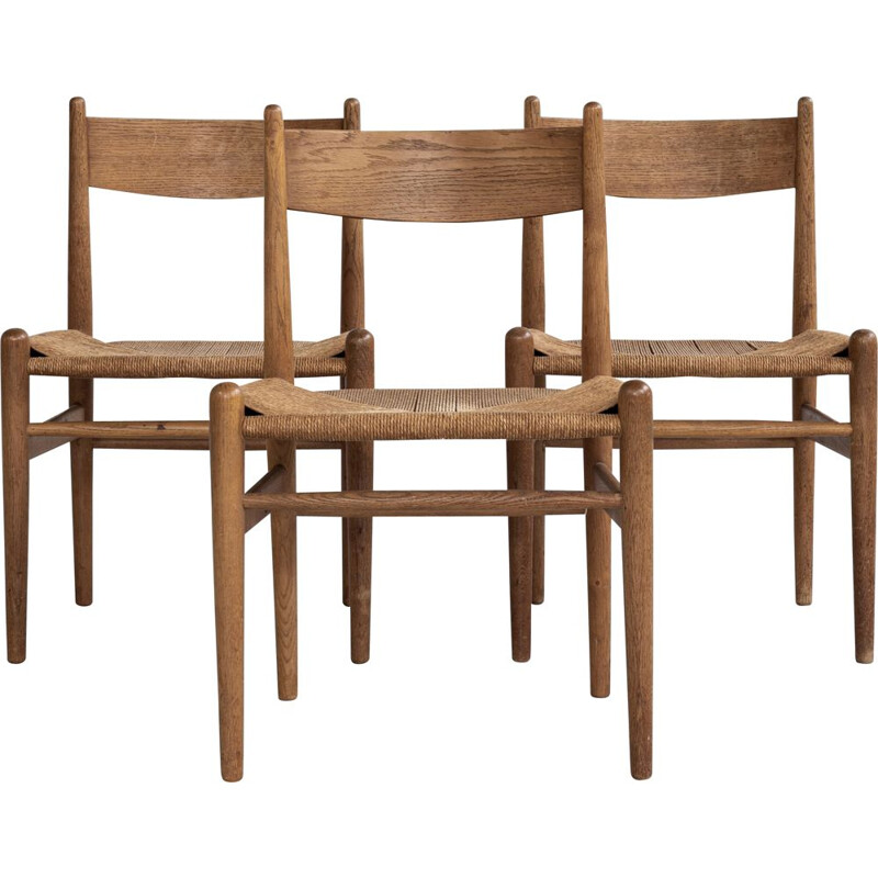 Vintage oak chair by Hans Wegner Denmark 1962s