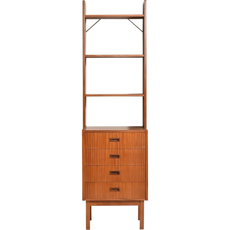 Vintage bookcase with shelf