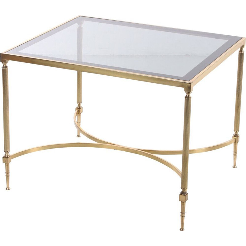 Vintage gold side table in Hollywood Regency style