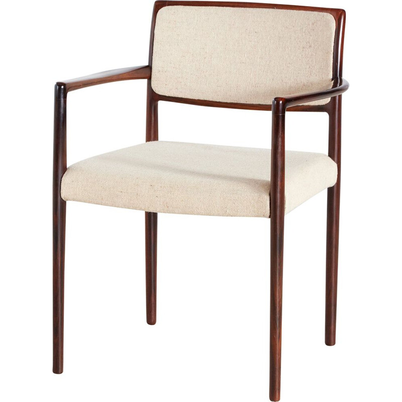 Set of 6 vintage rosewood armchairs 1960s