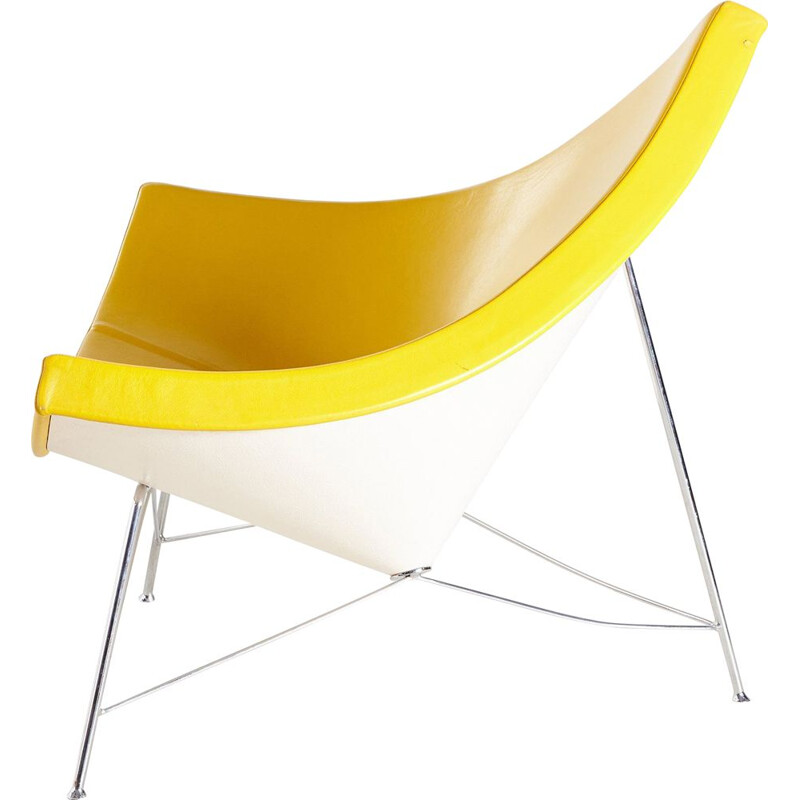 Vintage yellow coconut armchair by George Nelson for Vitra 1955