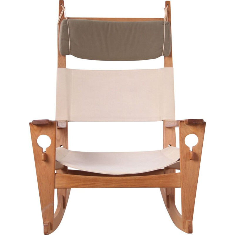 Vintage rocking chair By H. Wegner for Getama