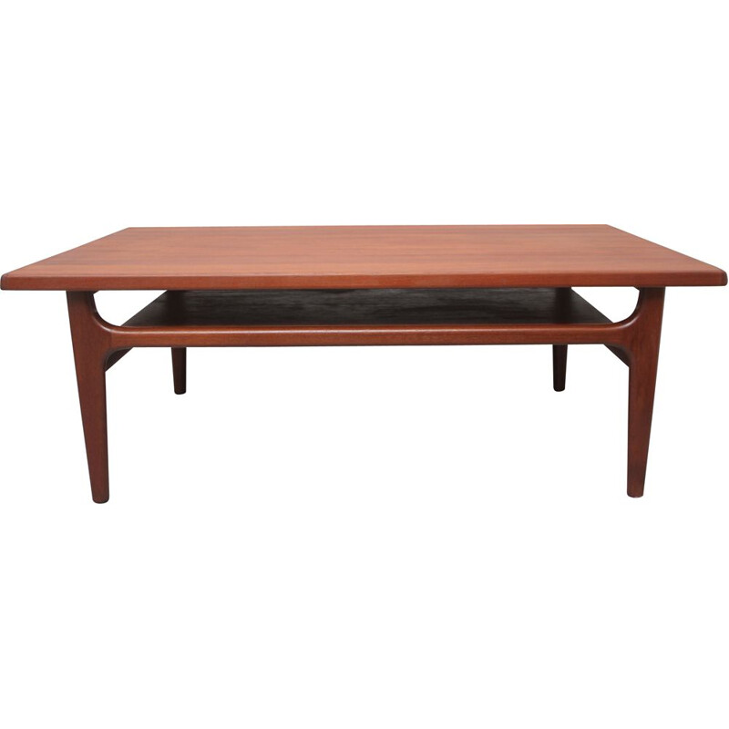 Vintage teak coffee table by Niels Bach for AS Möbler Denmark 1960s