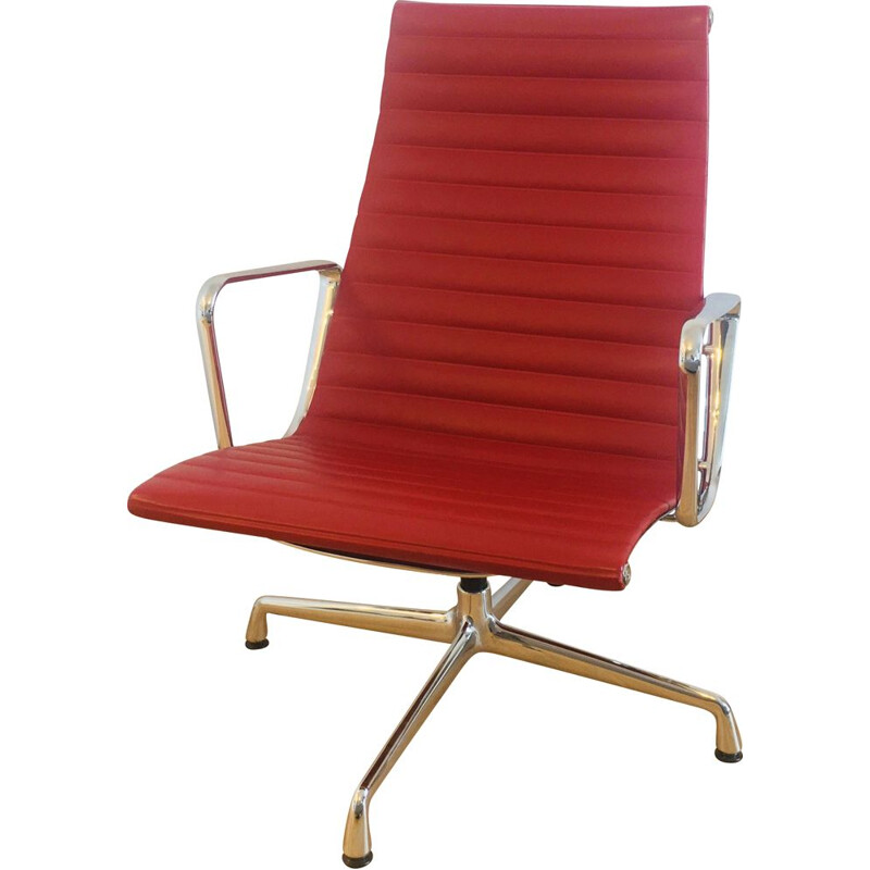Vintage aluminum chair by Charles and Ray Eames by Vitra