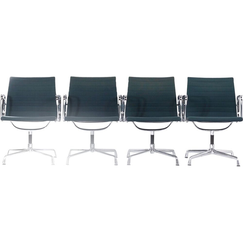 Set of 4 vintage chairs by Vitra 1969s