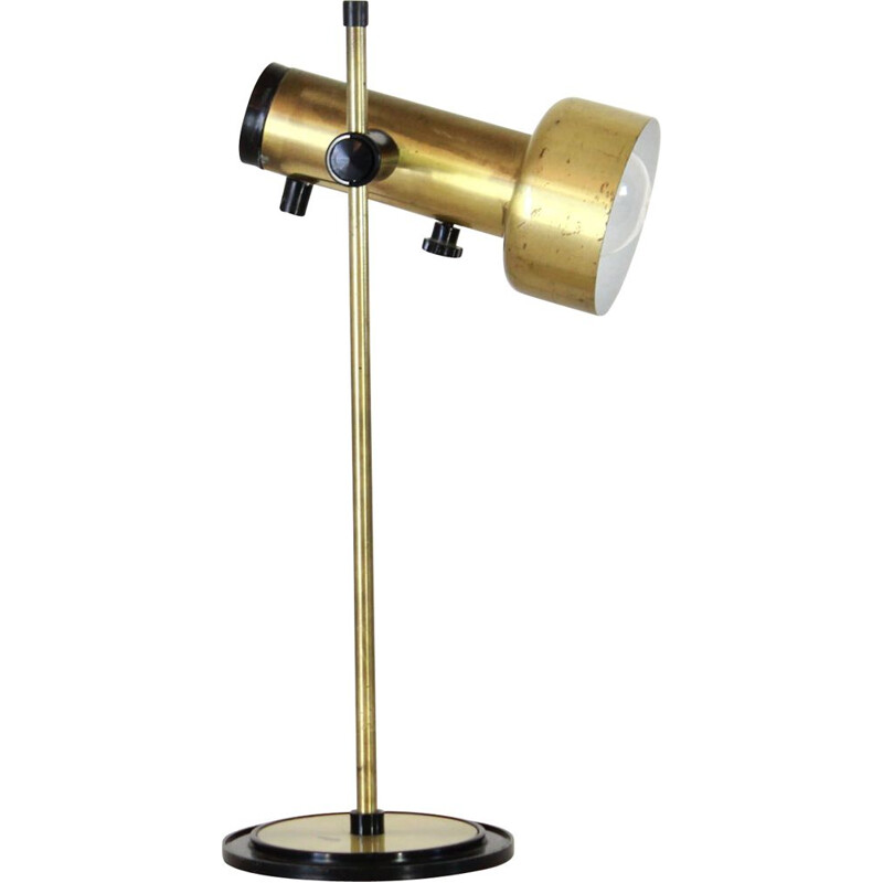 Vintage brass table lamp 1970s
