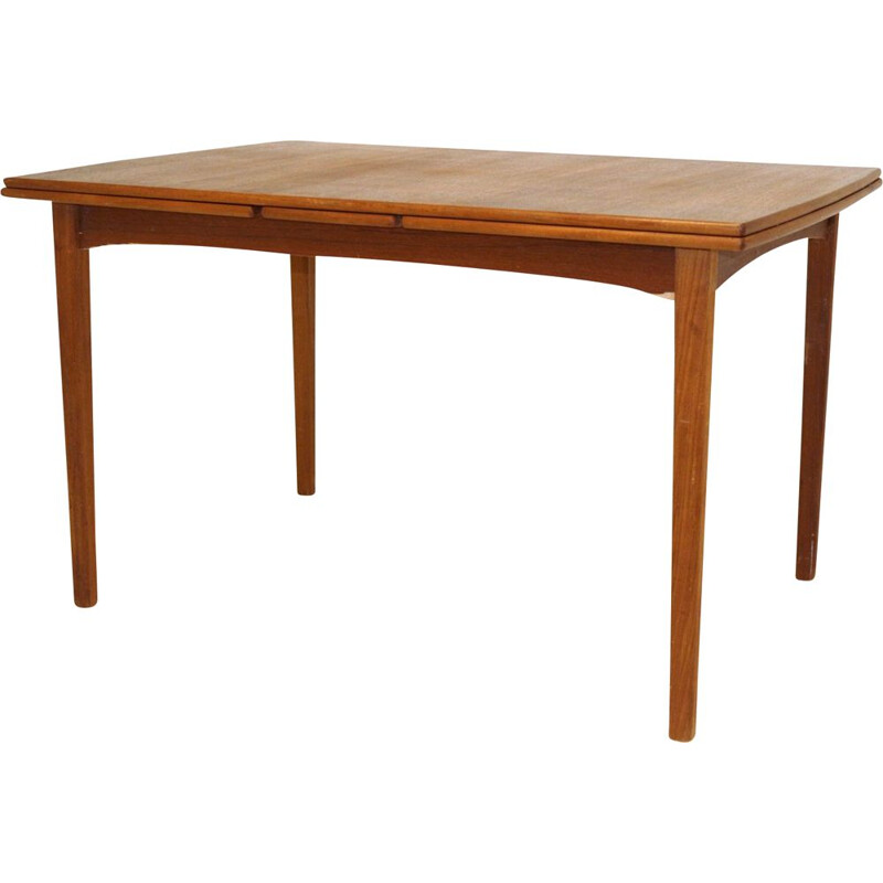 Vintage table with retractable tops