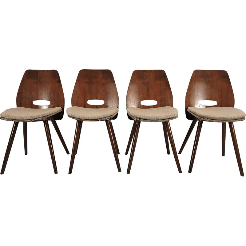 Set of 4 vintage chairs from Tatra 1960s