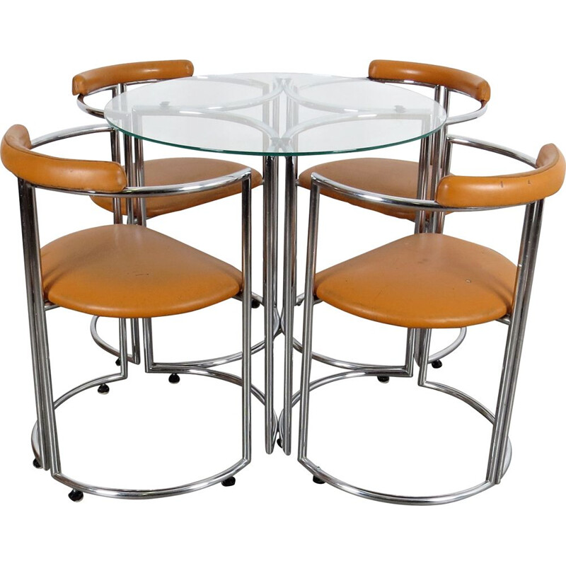 Vintage table and chairs 1970s