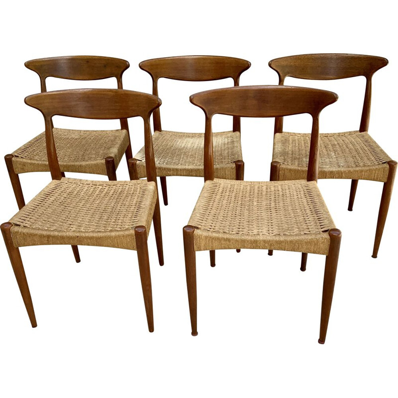 Set of 5 chairs scandinavian vintage 1960s