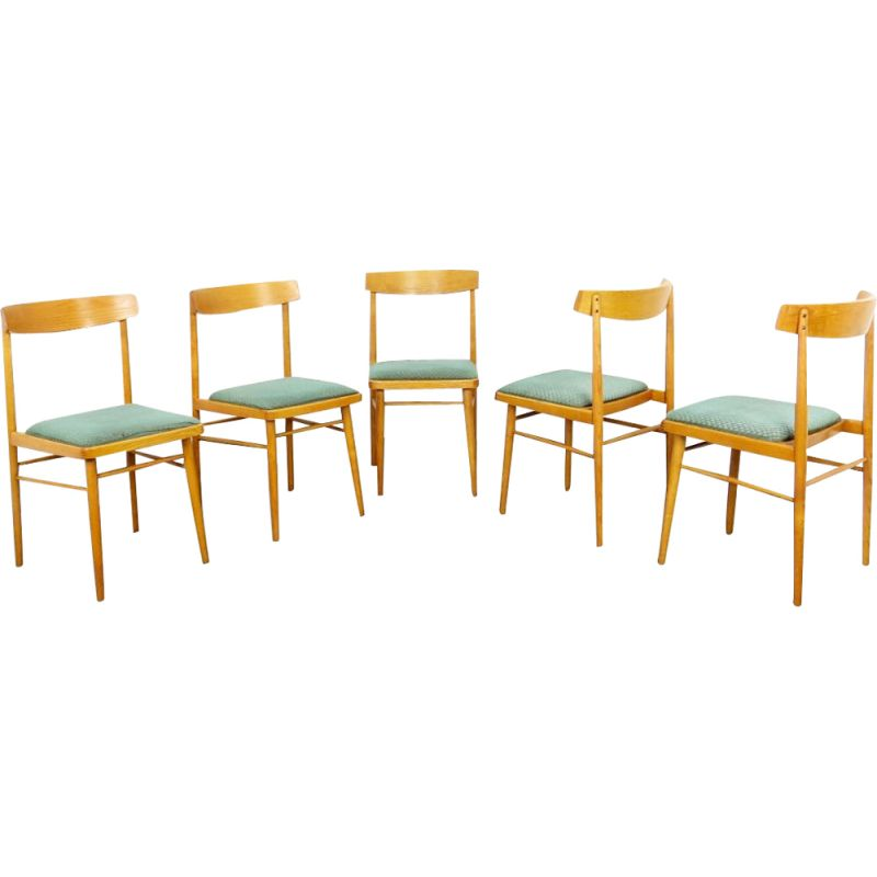 Set of 5 vintage chairs 1970s