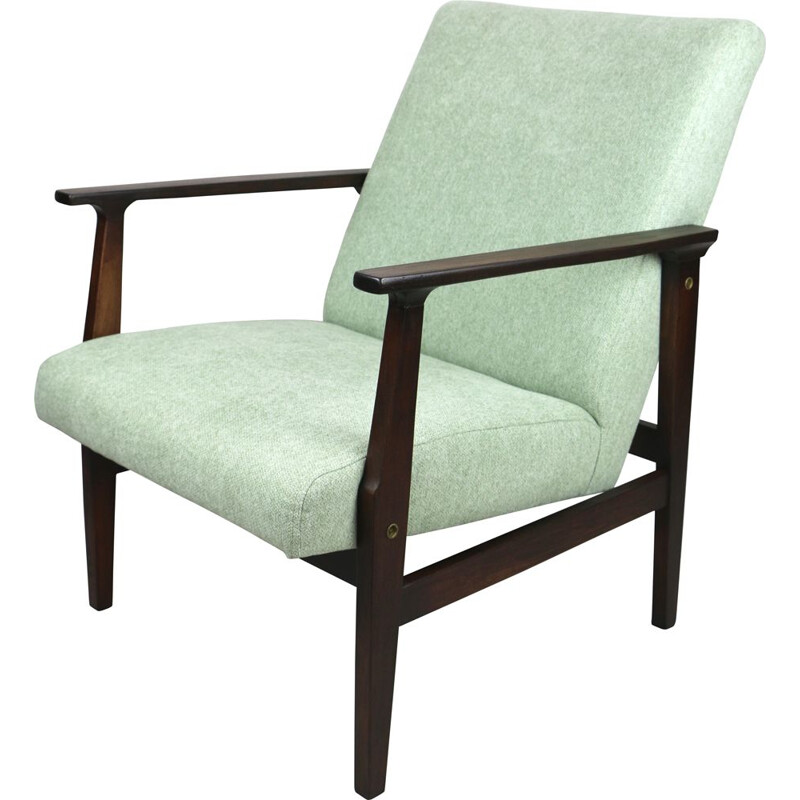 Vintage light green armchair 1970s