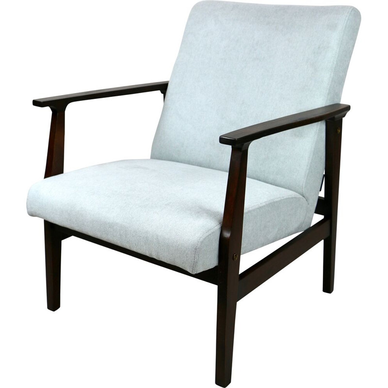 Vintage light blue armchair 1970s