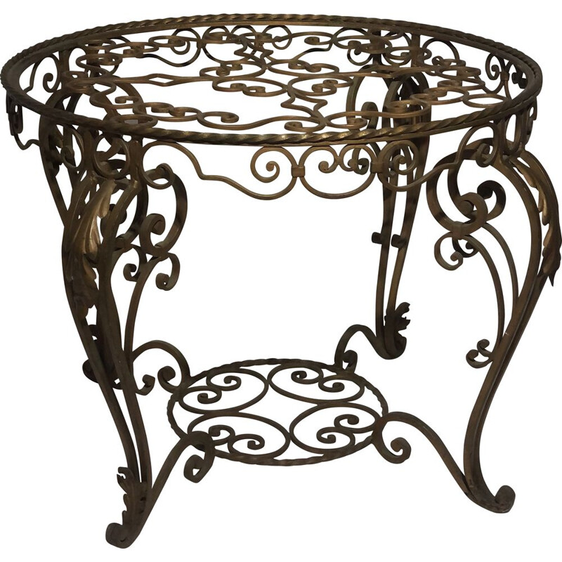 Vintage coffee table wrought iron