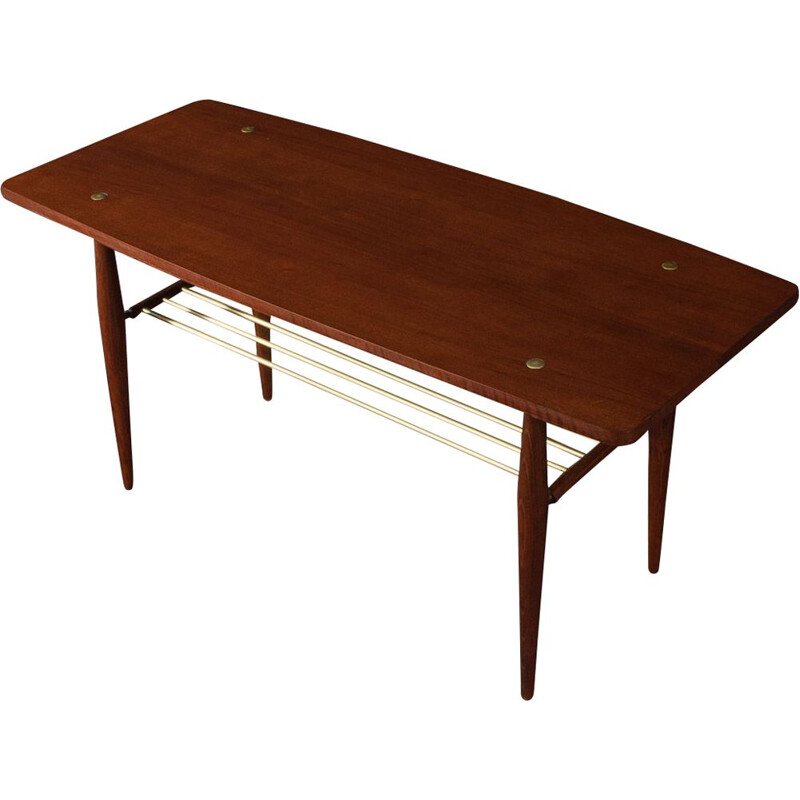 Vintage coffee table with solid frame Germany 1960s