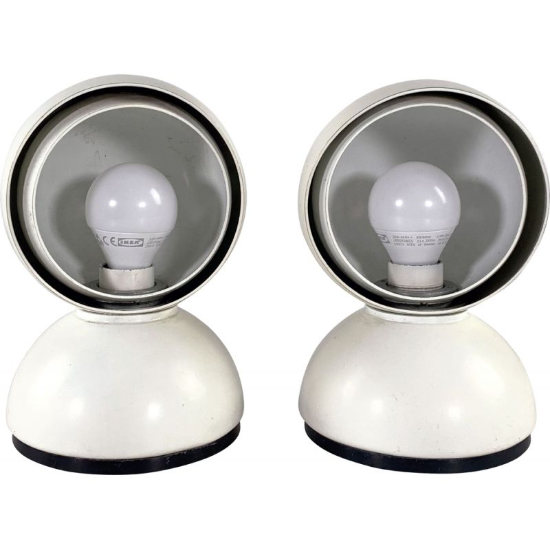 Pair of vintage table lamps Eclisse  by Vico Magistretti for Artemide 1960s