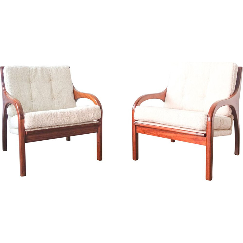 Pair of vintage armchairs by José Cruz de Carvalho for Altamira 1960s