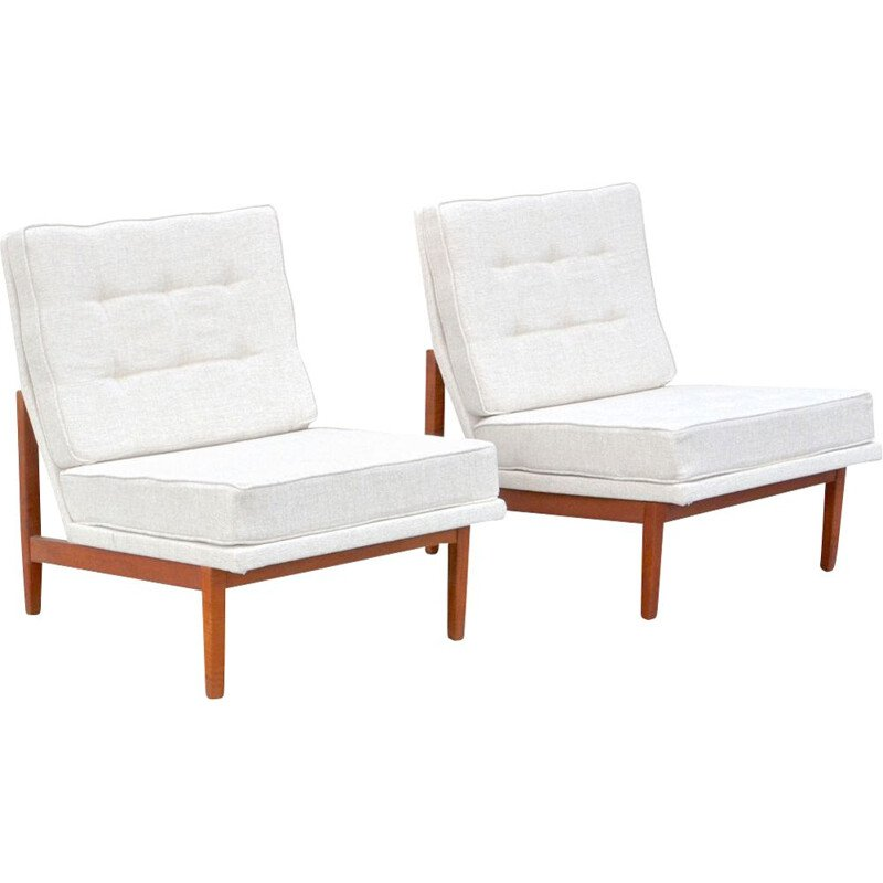Pair of vintage armchairs Florence Knoll 1960s