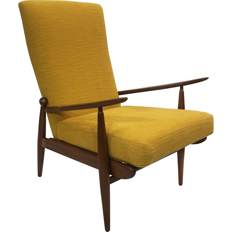 Vintage yellow armchair England 1960s