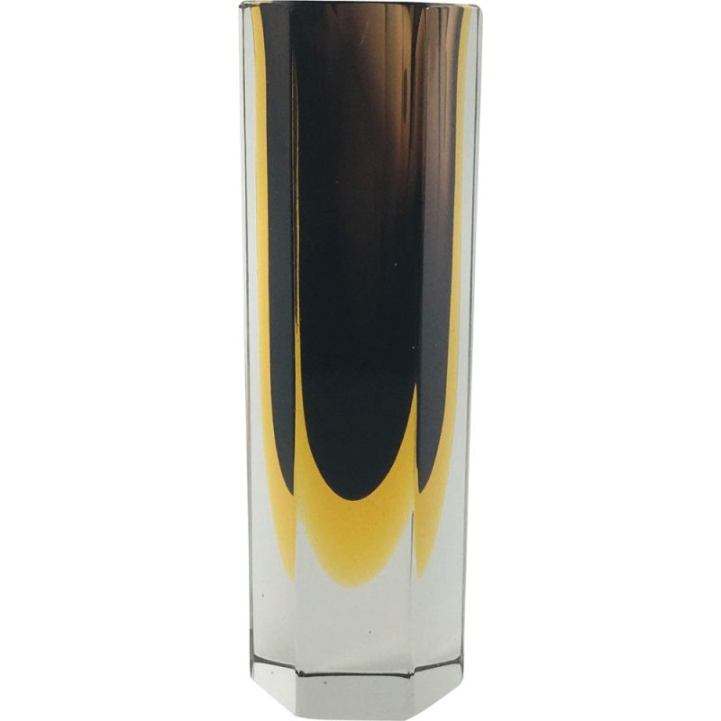 Vintage glass vase Sommerso of Murano by Flavio Poli 1960s