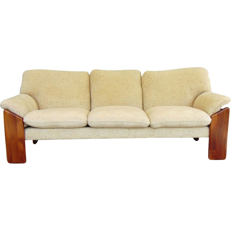 Vintage sofa with solid wood structure 1970s