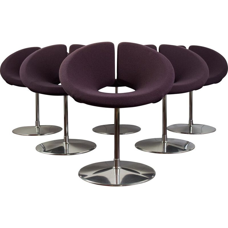 Set of 6 vintage Little Apollo swivel chairs by Patrick Norguet for Artifort 2002s
