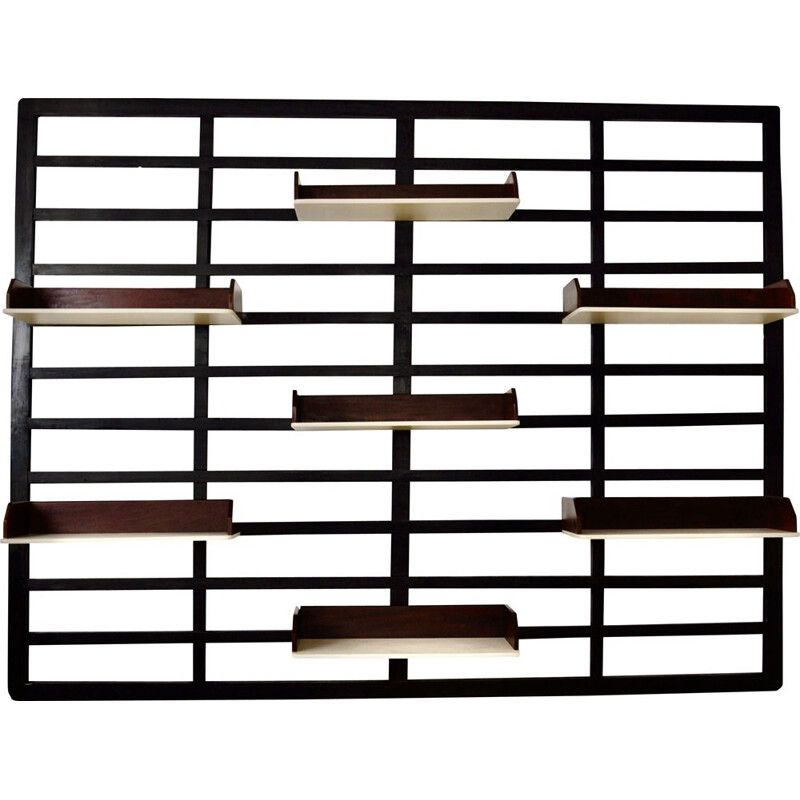 Vintage wooden wall unit 1960