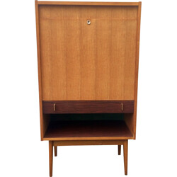Mid-century LG secretary desk in oakwood and gilded brass, Maurice PRÉ - 1950s