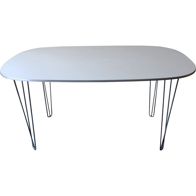 Vintage table with pin legs, Denmark 1970