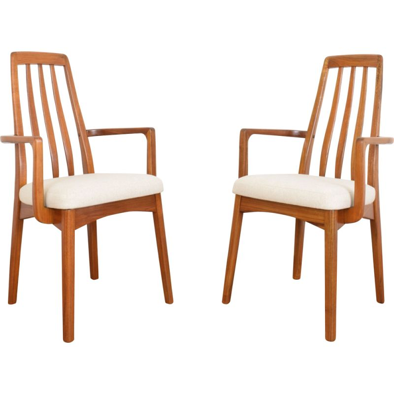 Pair of vintage teak side chairs by Benny Linden 1970s