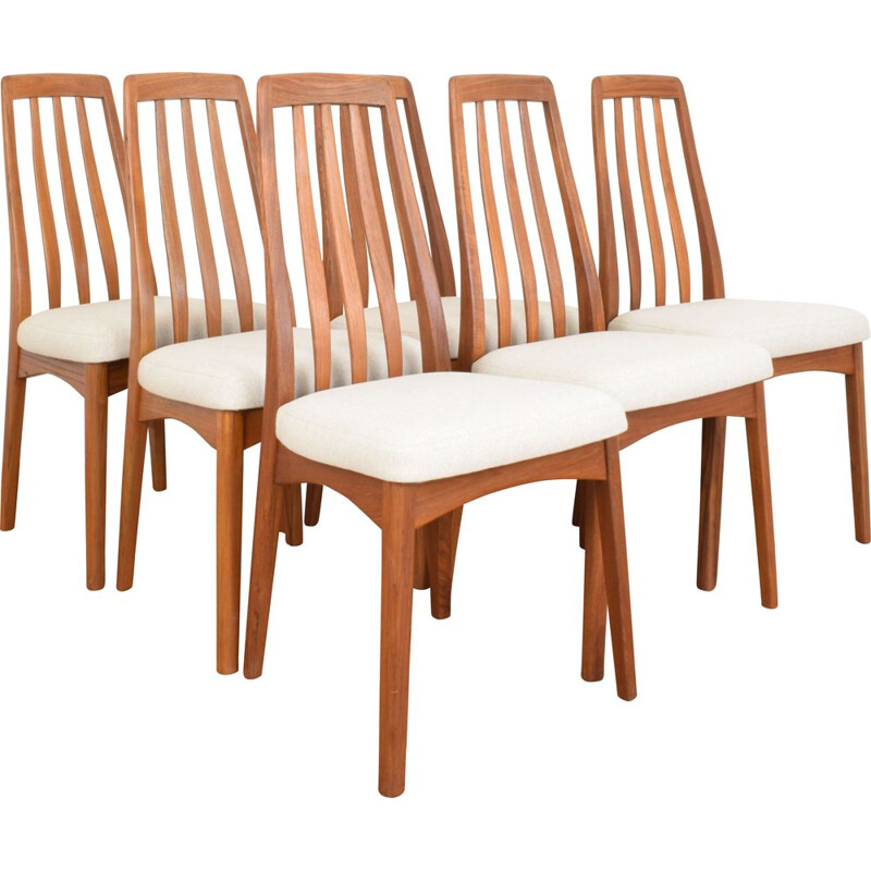 Set of 6 vintage chairs by Benny Linden 1970s