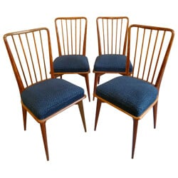 Suite of 4 chairs, Charles RAMOS - 1960s