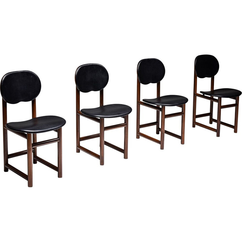 Set of 4 vintage chairs, Scarpa Italy