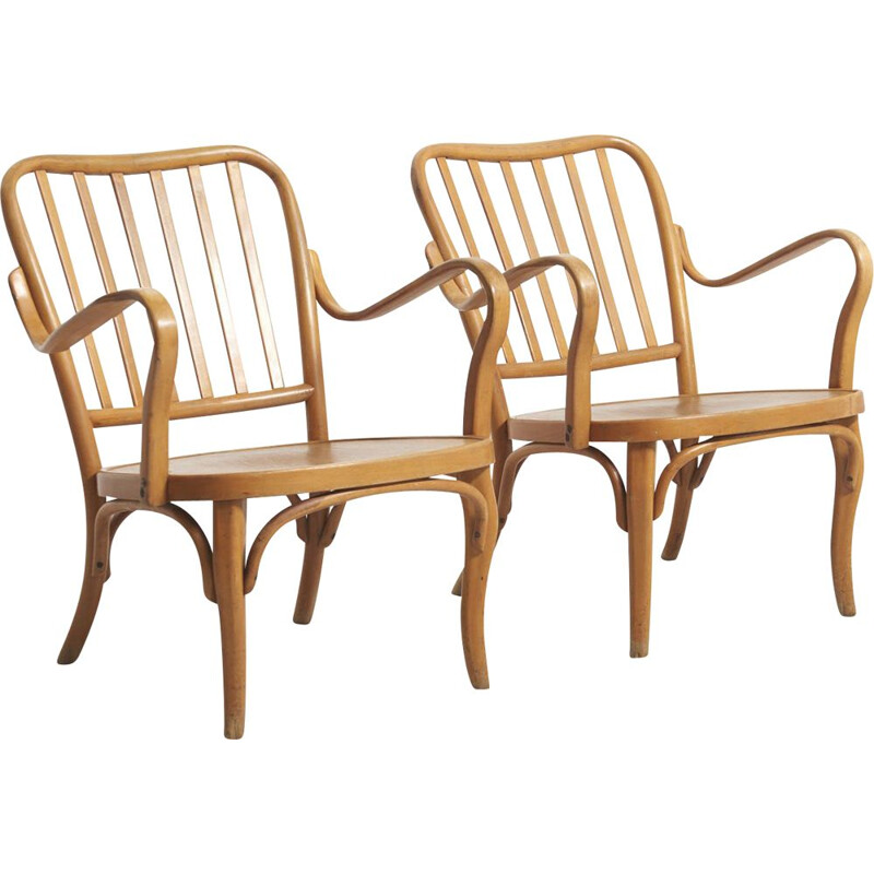 Pair of vintage armchairs by Josef Frank for Thonet, Austria 1930