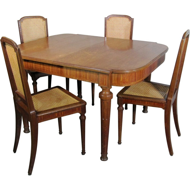 Set of 6 vintage chairs and table