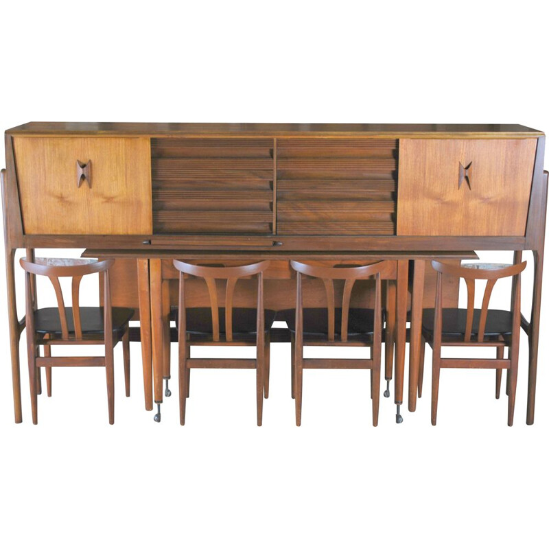 Set of vintage chairs and table England 1965s