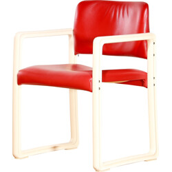 Kembo Holland 'Ypsilon' chair in red leatherette, Just Meyer - 1980s