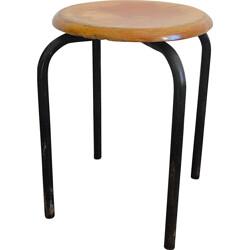 French stool in plywood - 1950s
