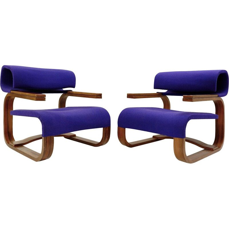 Pair of vintage armchairs by Jan Bocan for Thonet, Stockholm 1972