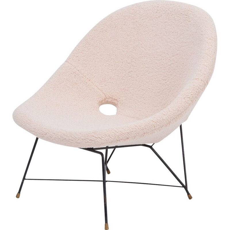 Vintage chair by Augusto Bozzi for Saporiti Italy 1956s