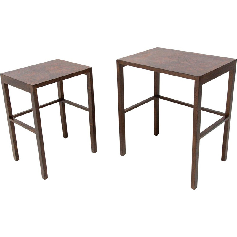 Pair of vintage nesting tables by Jindrich Halabala
