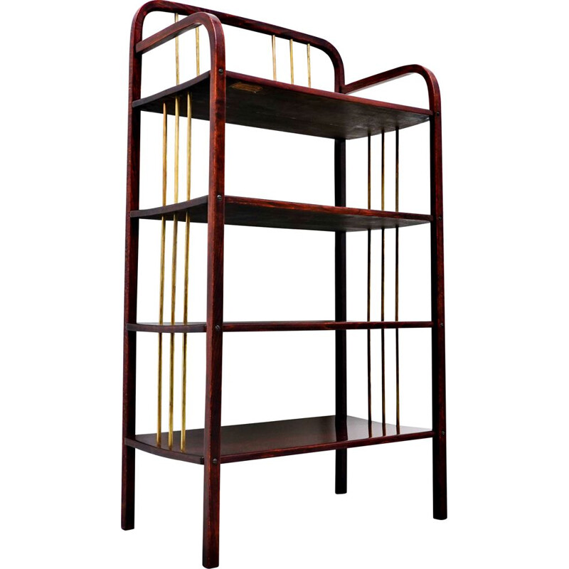 Vintage bentwood shelf from Thonet