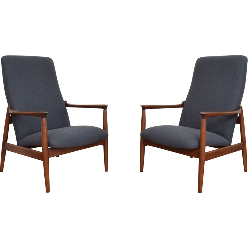 Pair of vintage armchairs by Edmund Homa Poland 1960s